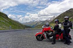 Indian in den Alpen