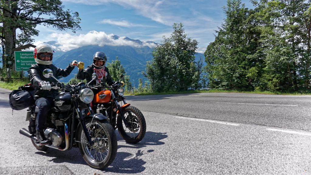 Bonneville Motorräder von Vater&Sohn