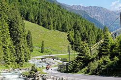 Kurven in den Alpen