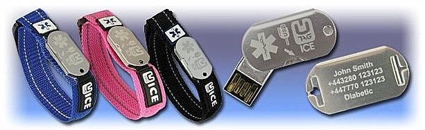 UTAG ICE Notfallarmbänder