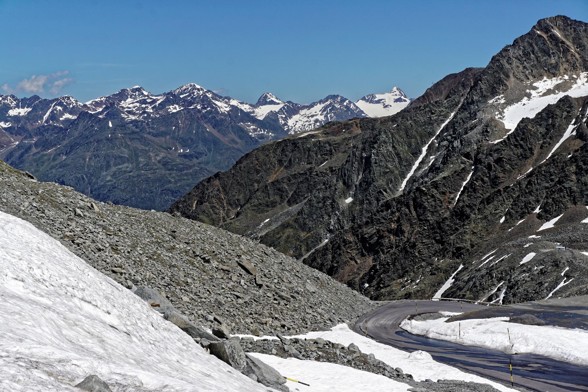 Motorradreise in den Bergen