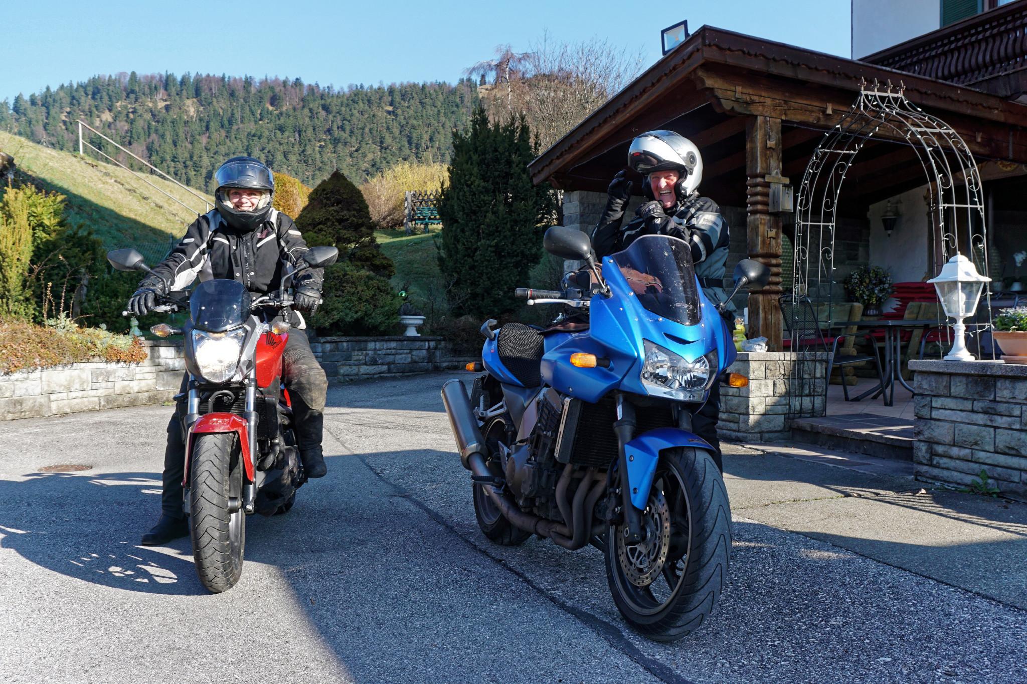 Motorradreisen gute Laune