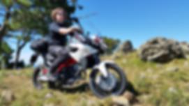 """Dominik Spitz - Tourguide bei ROOKiE-TOURS Motorradreisen mit seiner """"legendären"""" BMW GS."""