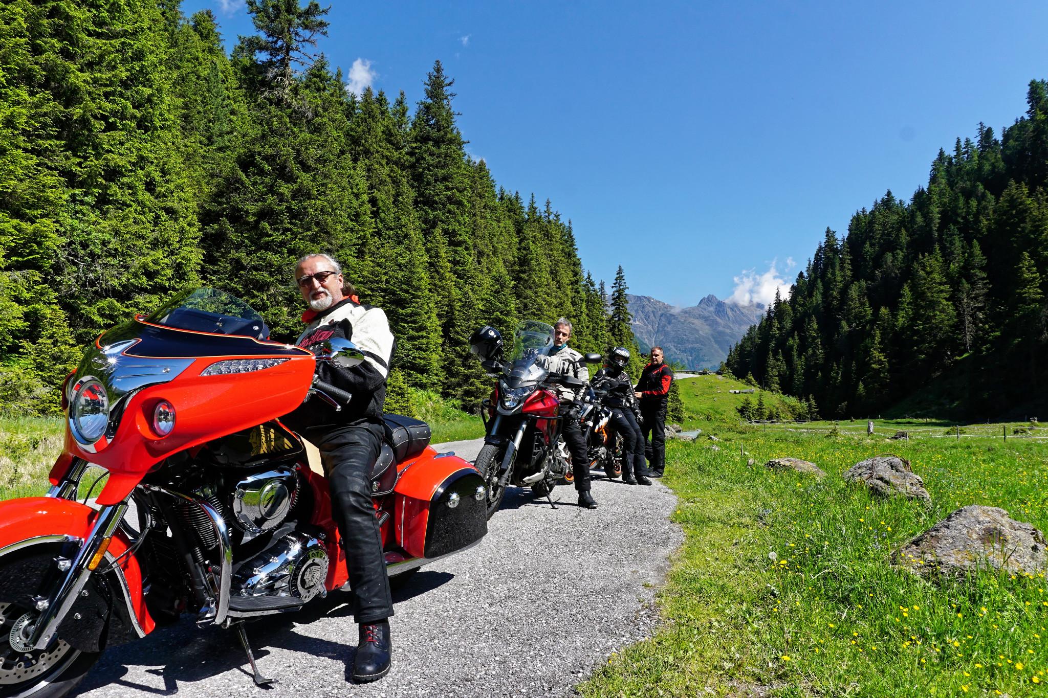 Geführte Motorradtour Alpen