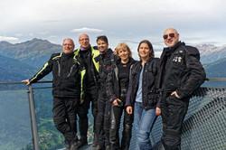 Reisegruppe Motorradfahrer Alpen