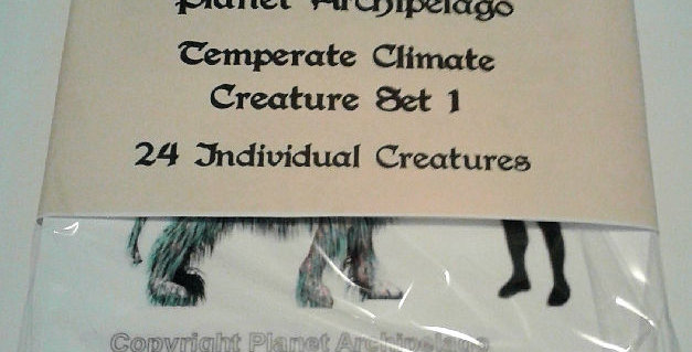 Planet Archipelago Temperate Climate Creature Set 1
