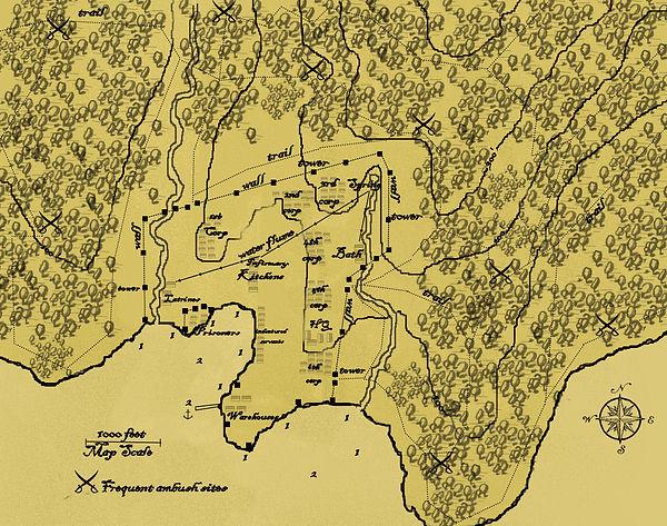 Falcon invasion site detail map parchmen
