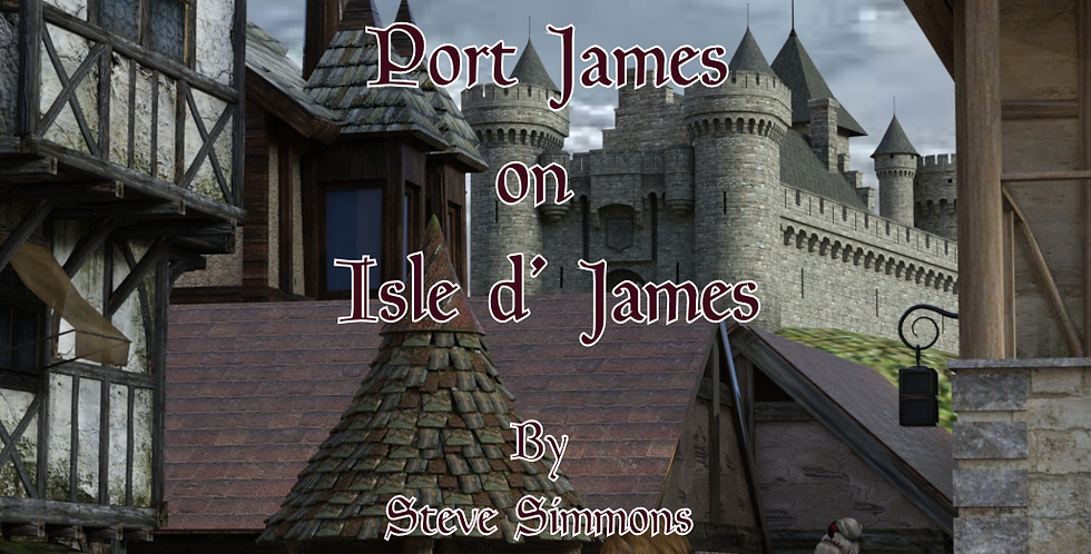 The baronial Castle at Port James on the Isle d' James