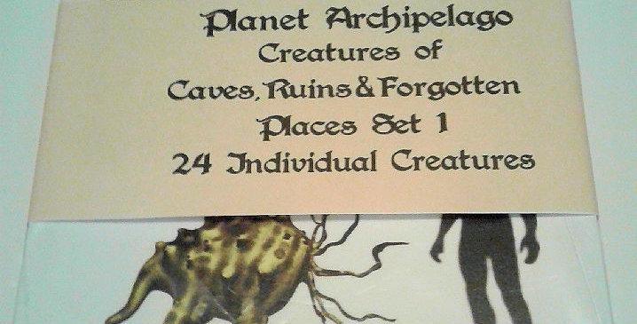 Planet Archipelago Caves, Ruins & Forgotten Places Creature Set 1