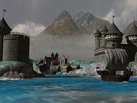 Port & Castle Ayr capitol of barony of L