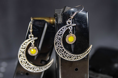 9mm Moon Earrings