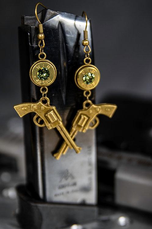 40 Caliber Gunslinger Earrings