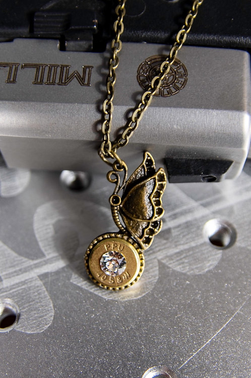 40 Caliber Butterfly Necklace