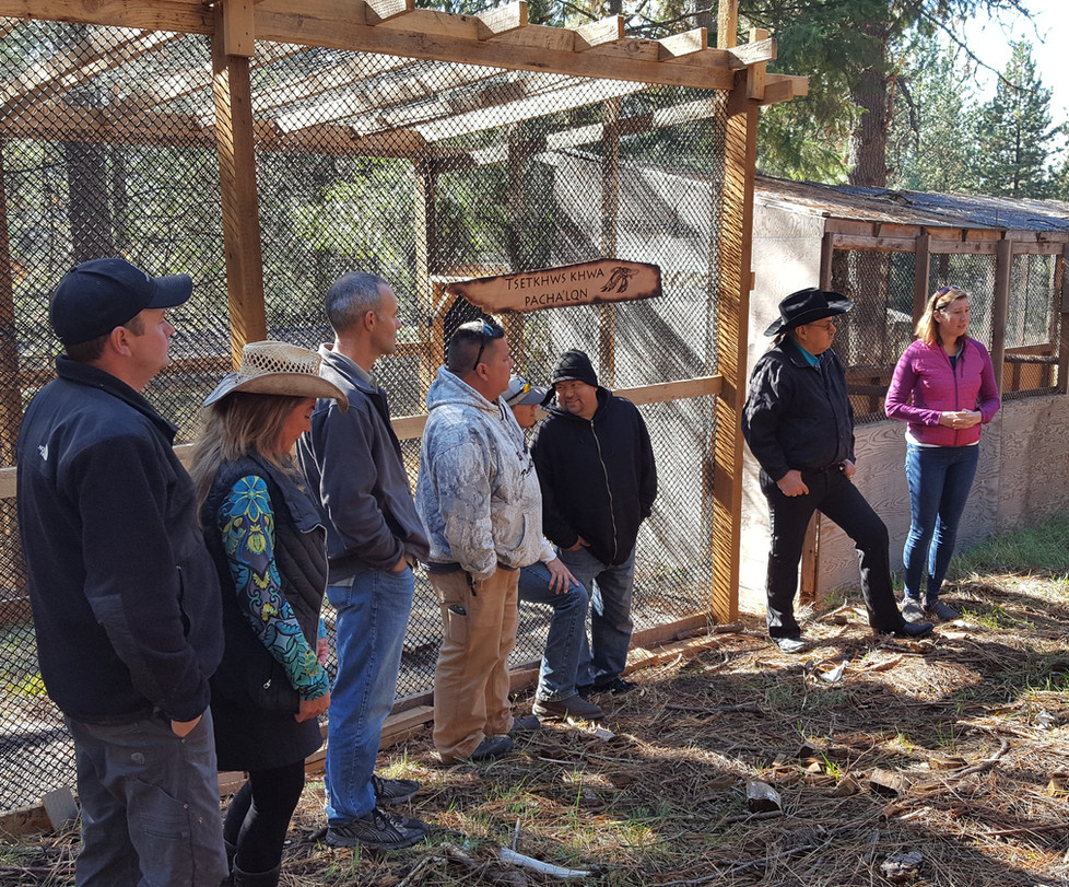 US FWS officials and CDA Tribal members