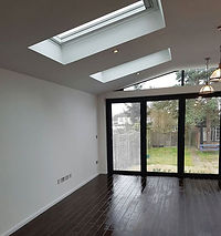 Single storey rear extension with a pitc