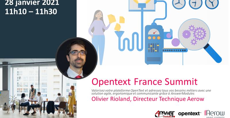 Aerow, partenaire officiel de l'OpenText Summit France 2021