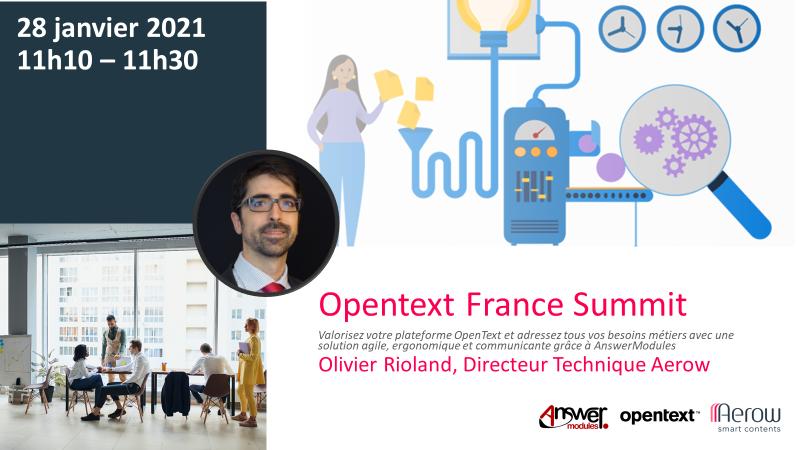 AEROW, partenaire Gold OpenText et animateur d'atelier pour L'OpenText Summit France 2021
