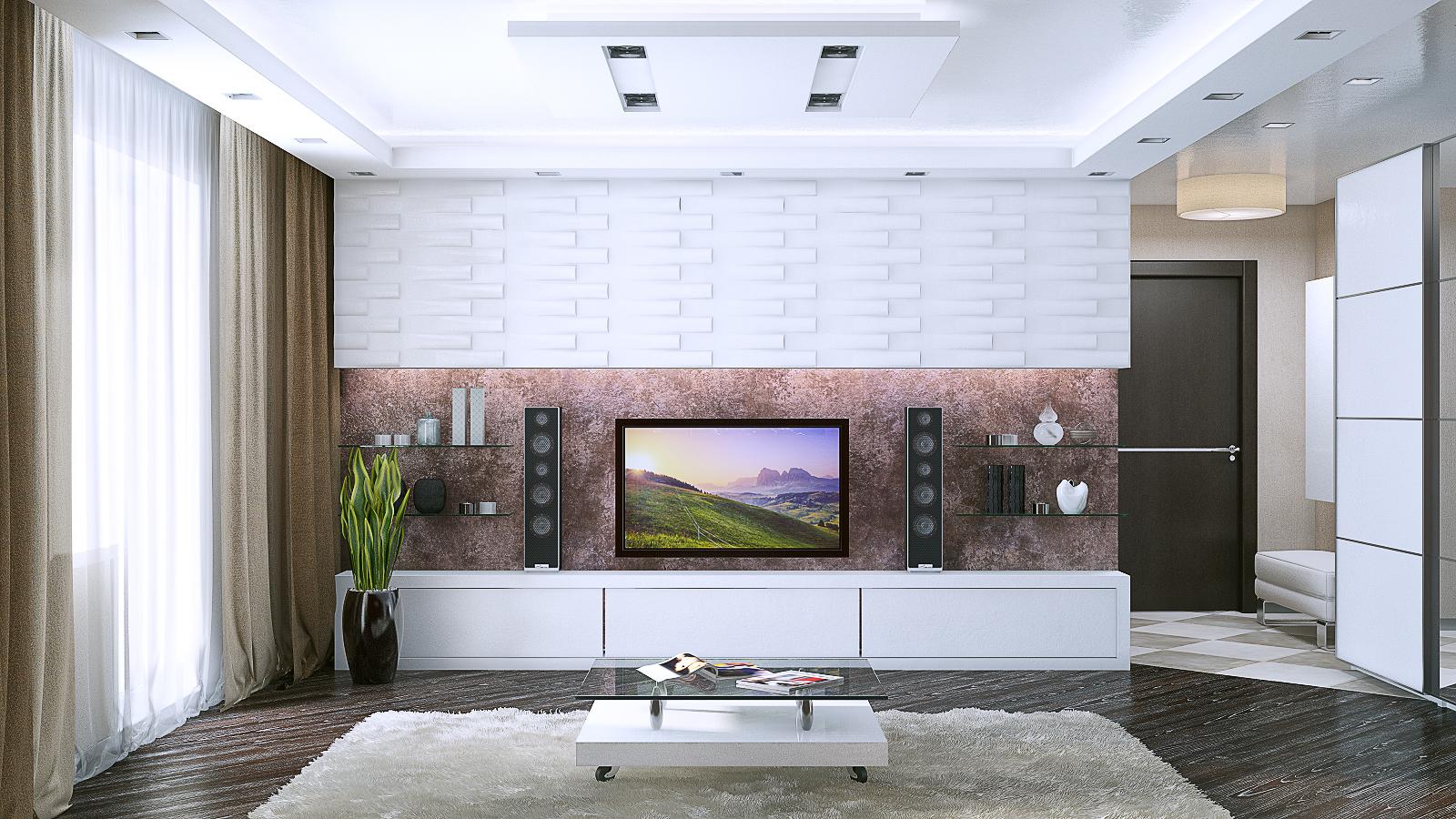 Гостиная, вид на TV зону