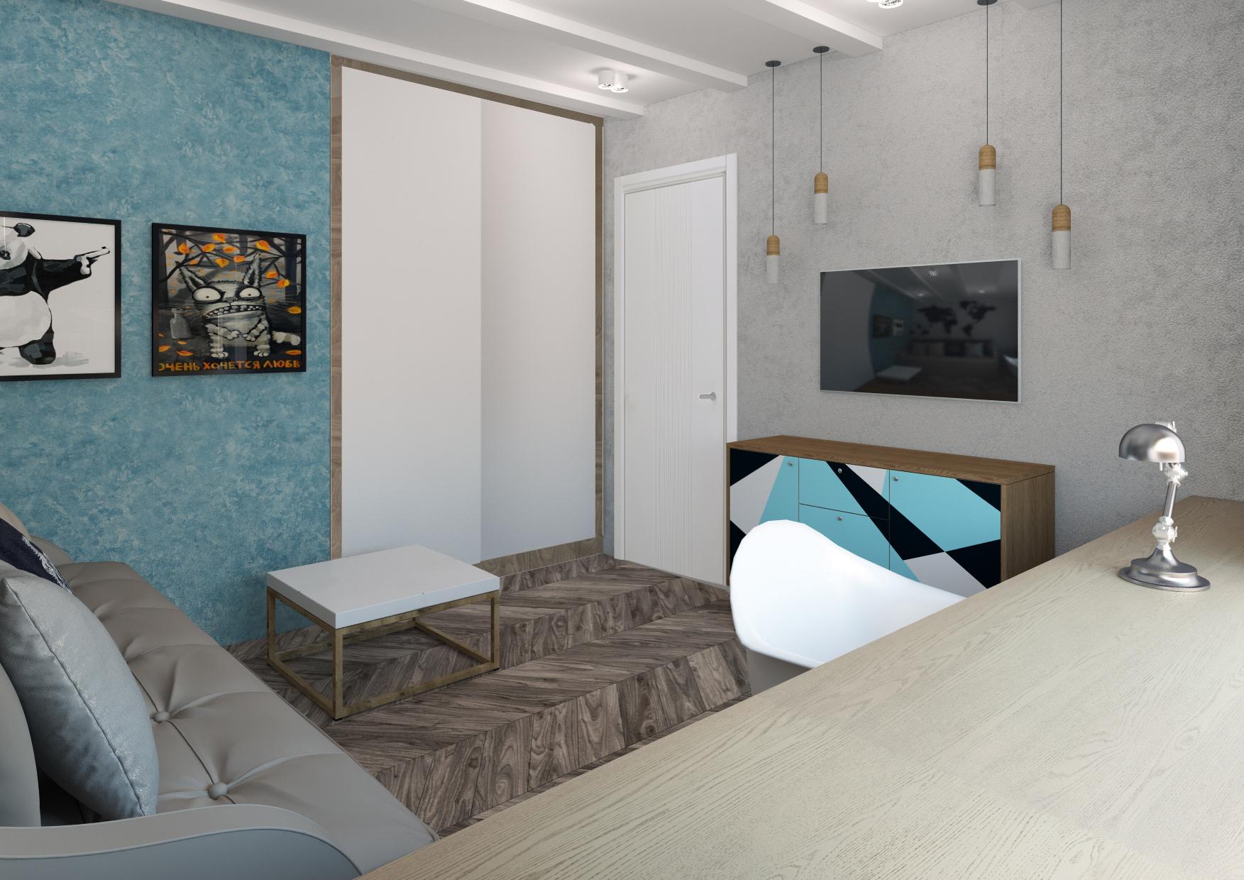 Гостиная-комната молодого человека