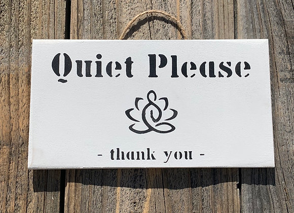 Quiet Please Namaste Yoga Sign Gift