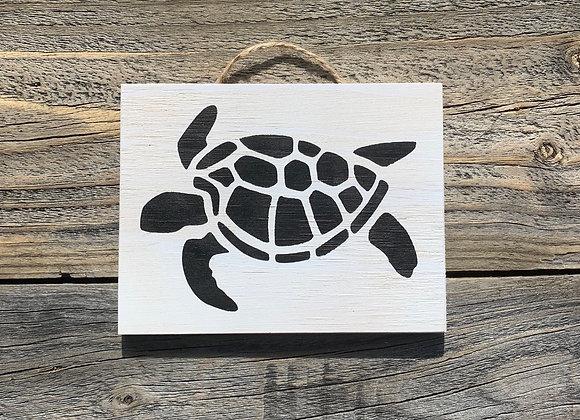 Turtle Sign | Turtle Art | Bathroom Decor | Beach Decor | Nautical Nursery Decor