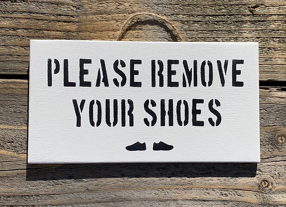 Please Remove Your Shoes Sign | Remove Shoes | Porch Decor | Front Door Sign