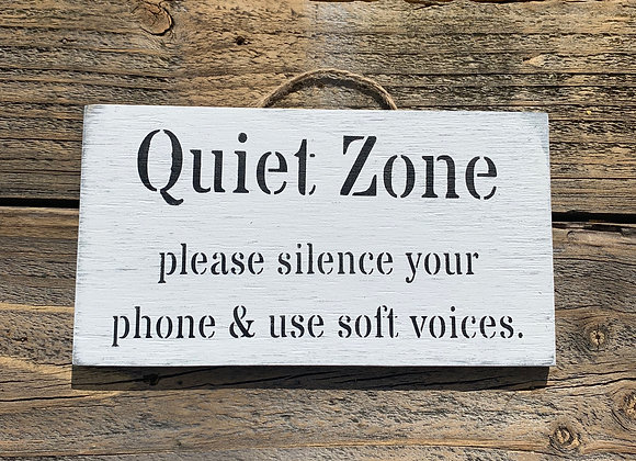 Quiet Zone Sign | Quiet Place | Quiet Zone Cell Phone | Do Not Disturb Sign