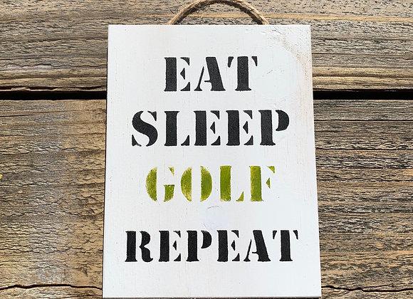 Eat Sleep Golf Gift | Golf Decor | Golfing Gift