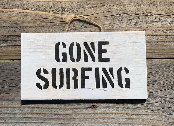 Gone Surfing Sign | Surf Decor | Surfing Gift | Gift For Surfer | Beach House