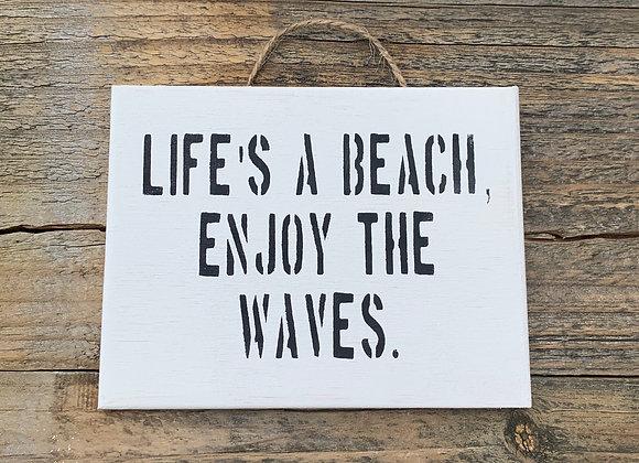 Life's A Beach Enjoy The Waves Bathroom Signs Beach Signs Custom Wood Sign Beach