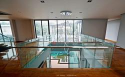 BALCONY stair railing glass design