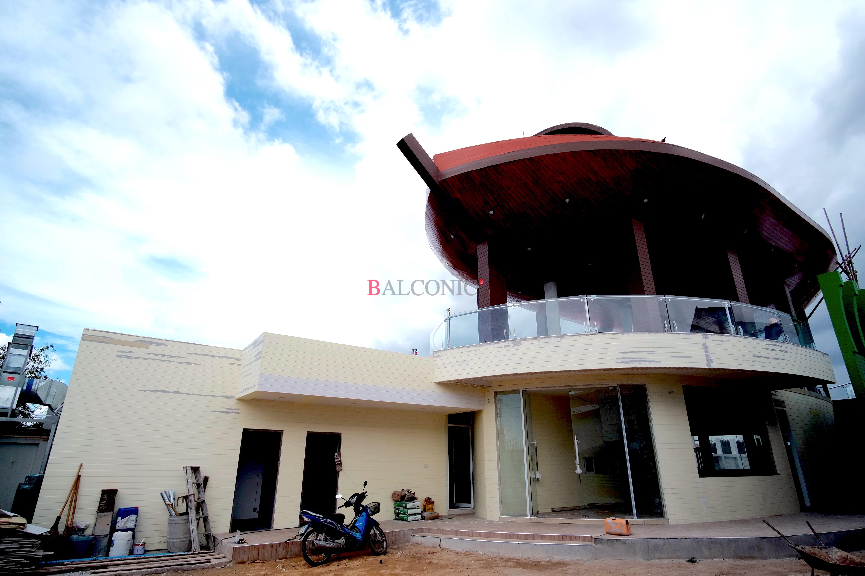 Balconic เสาสแตนเลส 304 ร้านอาหาร เรือ ราวสแตนเลส