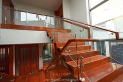 stair railing glass