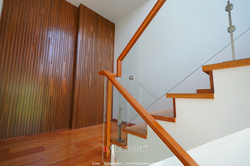 Stair case railing glass design by BALCONIC