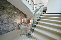SF-9005 stair railing Walnut handrail