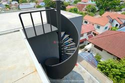 บันไดวน โครงเหล็ก แผ่นโค้ง ดัด stair spiral design by balconic ราวบันไดเหล็ก