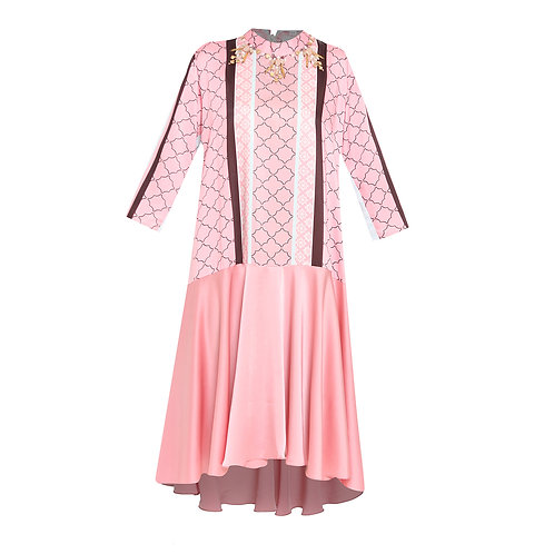 Vannya Pink Tuxedo Dress