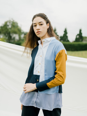 Filona Stripe n' Patch Shirt