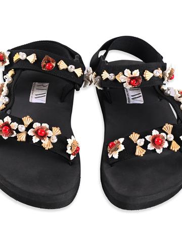 Cherry Golden Strap Sandal