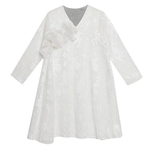 Ruffled White Tunic Dress