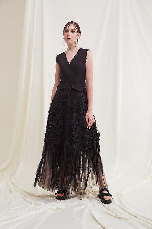 Chelsea V-neck Fringe Dress