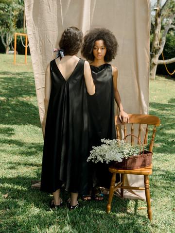 Brijola Stretch Satin Dress