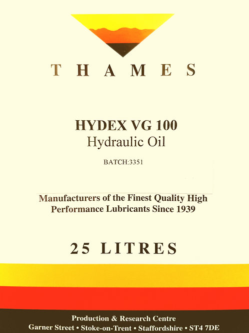 Hydex VG 100 Hydraulic Oil