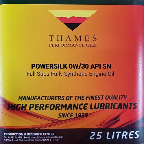 POWERSILK 0W/30 SN Low Saps Fully Synthetic