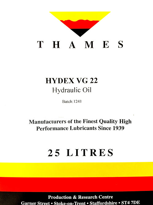 Hydex VG 22 Hydraulic Oil