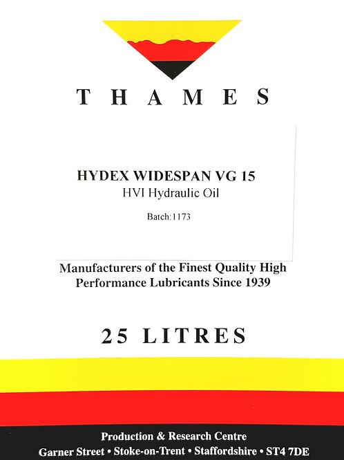 Hydex Widespan VG 15 HVI Hydraulic Oil
