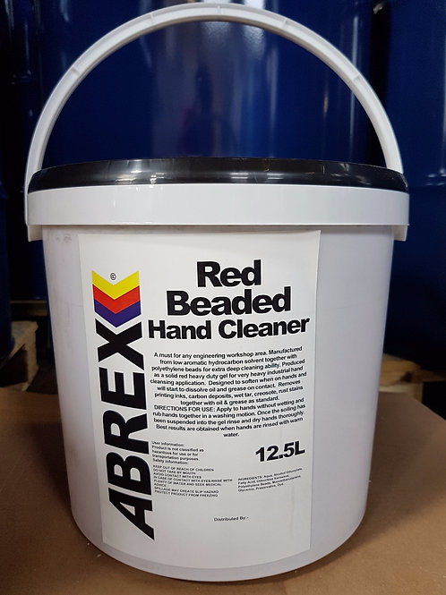 Red Beaded Hand Cleaner