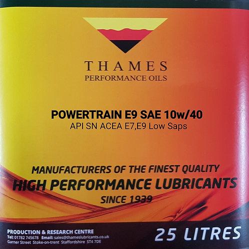POWERTRAIN E9 10W/40 Low Saps