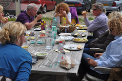 Cursisten tijdens lunch