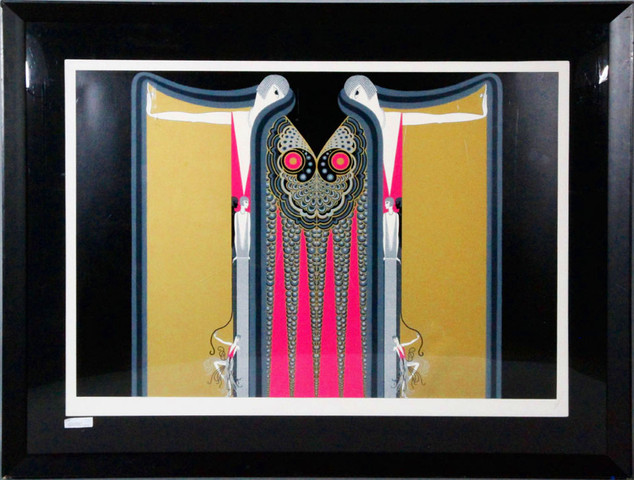 Twin Sisters Serigraph 34 x 49 in. HC Hand-signed and numbered